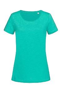 Tričko STEDMAN STARS SHARON CREW NECK bahama zelená L - reklamní vesty