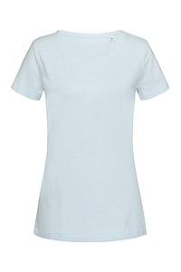 Tričko STEDMAN STARS SHARON CREW NECK světle modrá M - reklamní trička