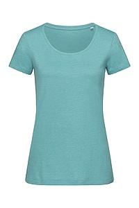Tričko STEDMAN STARS LISA CREW NECK tmavě tyrkysová S - reklamní trička