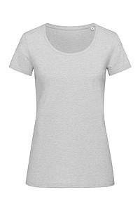 Tričko STEDMAN STARS LISA CREW NECK světle šedý melír S - reklamní trička