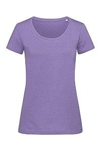 Tričko STEDMAN STARS LISA CREW NECK fialová XL - reklamní trička