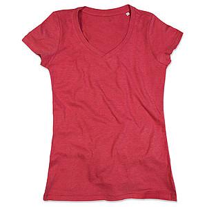 Tričko STEDMAN STARS LISA V-NECK červený melír M