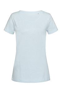 Tričko STEDMAN SHARON OVERSIZED SLUB CREW NECK modrá M