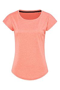Dámské tričko STEDMAN RECYCLED SPORTS-T MOVE WOMEN, korálově červený melír, L - reklamní trička