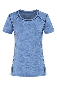 Dámské tričko STEDMAN RECYCLED SPORTS -T REFLECT WOMEN, modrý melír, L
