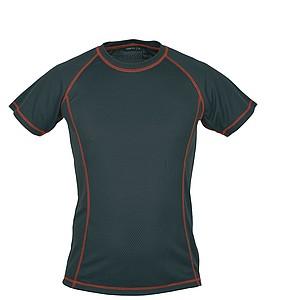 SCHWARZWOLF PASSAT MEN funkční tričko, červené prošívání, L