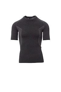 Pánské funkční tričko PAYPER THERMO PRO 160 SS, černý melír, 2/3XL