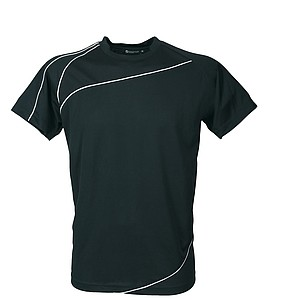 SCHWARZWOLF RILA MEN funkční tričko, černé XL - reklamní trička