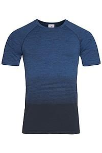 Pánské tričko STEDMAN ACTIVE SEAMLESS RAGLAN FLOW MEN, černá/nám. modrá L