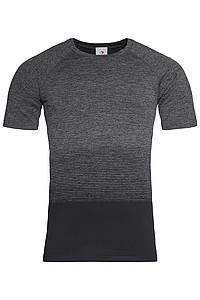 Pánské tričko STEDMAN ACTIVE SEAMLESS RAGLAN FLOW MEN, černá/tmavě šedá XL - reklamní čepice