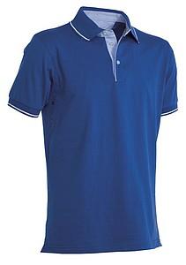 Polokošile PAYPER CAMBRIDGE královská modrá, bílá XXXL - reklamní trička
