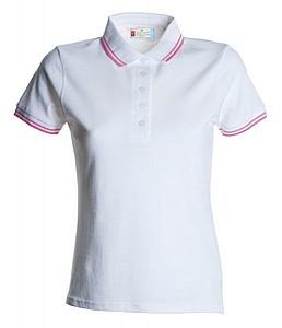 Polokošile PAYPER SKIPPER LADY bílá, neonově růžová S - reklamní bundy