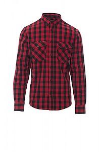Pánská košile PAYPER LABRADOR červená/černá, L