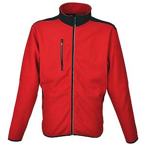 SCHWARZWOLF BESILA pánská fleece mikina, červená XL
