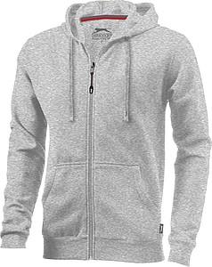 Mikina Slazenger Open s kapucí, zip v celé délce, šedý melír, XXL