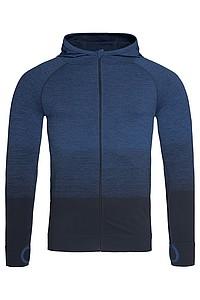 Pánská funkční mikina STEDMAN ACTIVE SEAMLESS JACKET, černá/námořní modrá L - reklamní trička