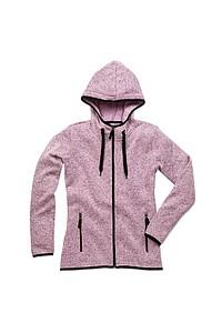 Mikina STEDMAN ACTIVE KNIT FLEECE JACKET WOMEN fialový melír S - reklamní trička