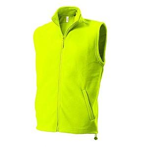 UNISEX FLEECE VEST Fleecová vesta, jasně zelená XXL
