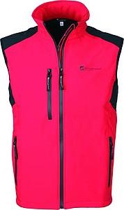 SCHWARZWOLF BELIDIS vesta pánská, logo vpředu, červená M - reklamní vesty