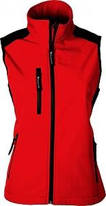 SCHWARZWOLF BELIDIS vesta dámská, logo vzadu, červená L - reklamní trička