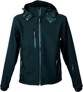 SCHWARZWOLF BREVA bunda pánská, logo vzadu, černá XL - reklamní bundy