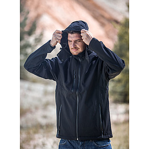 SCHWARZWOLF BREVA bunda pánská, logo vzadu, černá XL