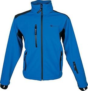 SCHWARZWOLF BREVA bunda pánská, logo vpředu, modrá XL