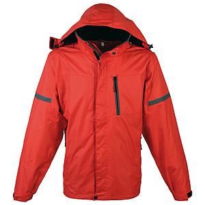 SCHWARZWOLF BONETE pánská podzimní bunda, červená M – reklamní peněženka s potiskem