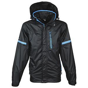 SCHWARZWOLF BONETE pánská podzimní bunda, černá M - reklamní bundy
