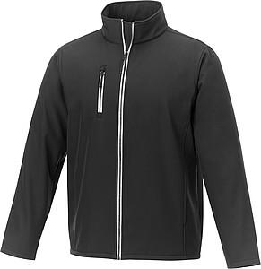 Pánská softshellová bunda elevate Orion, černá L - reklamní bundy