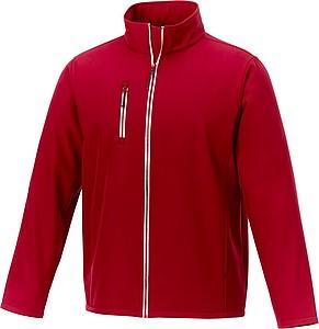 Pánská softshellová bunda elevate Orion, tmavě červená XL - reklamní bundy
