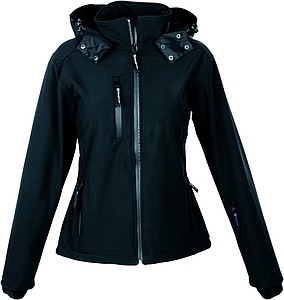 SCHWARZWOLF BREVA bunda dámská, logo vzadu, černá XL – reklamní peněženka s potiskem