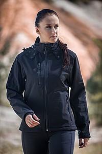 SCHWARZWOLF BREVA bunda dámská, logo vzadu, černá XL