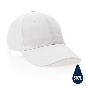 6 dílná kšiltovka Impact z 280g recyklované bavlny AWARE™, bílá