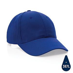 6 dílná kšiltovka Impact z 280g recyklované bavlny AWARE™, modrá