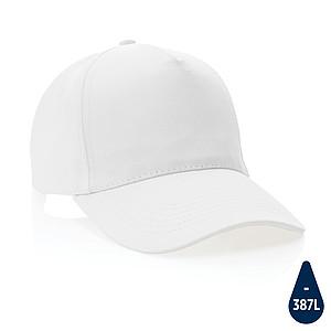 5 dílná kšiltovka Impact z 280g recyklované bavlny AWARE™, bílá