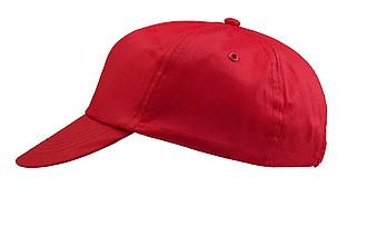 ŽOKEJ Pětipanelová bavlněná čepice, červená