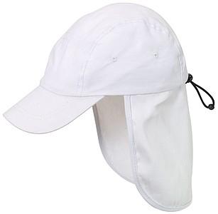 IRENE Dětská kšiltovka s ochranou krku, bílá