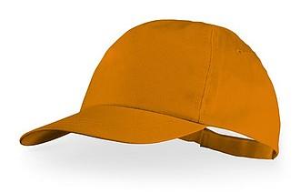 Pětipanelová bavlněná čepice, oranžová