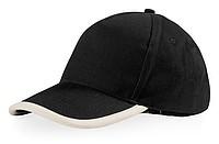 Bavlněná čepice s bíle lemovaným kšiltem, černá