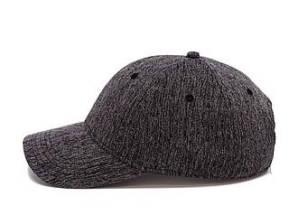 GARETA Sportovní šestipanelová čepice s vyztuženým čelem, černá