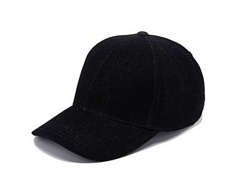 KALEA Šestipanelová čepice s vyztuženým čelem v džínovém designu, černá - reklamní čepice