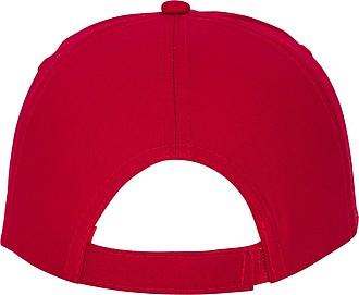 Pětipanelová bavlněná čepice Feniks, červená