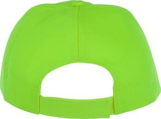 Dětská pětipanelová bavlněná čepice Feniks, jasně zelená