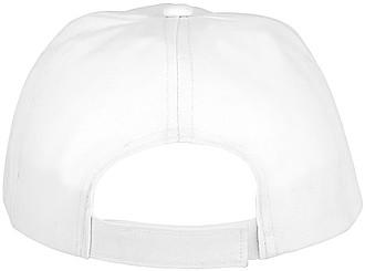 Dětská pětipanelová bavlněná čepice Feniks, bílá - reklamní čepice