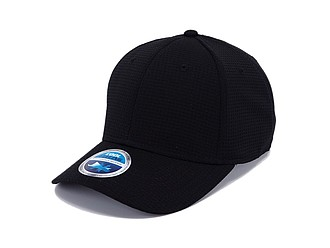 STÁZINKA Funkční šestipanelová čepice s vyztuženým čelem, černá - reklamní čepice