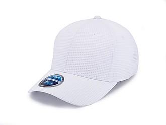 STÁZINKA Funkční šestipanelová čepice s vyztuženým čelem, bílá - reklamní čepice