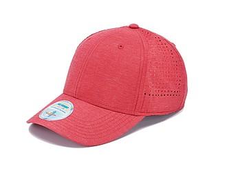 SAWIRA Polyesterová kšiltovka s perforací pro odvětrávání, červená - reklamní čepice