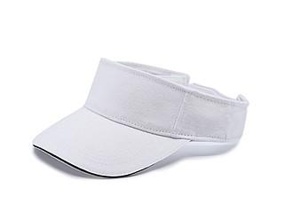 FELISIN Kšilt z broušené bavlny a kontrastním lemováním, bílá - reklamní čepice