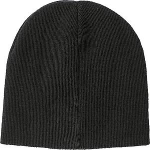 REKOJA Pletená čepice, černá - reklamní čepice
